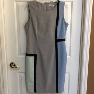 Calvin Klein chic lined and flattering sz 12 dress